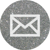 email silver round social media icon